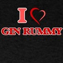 I Love Gin Rummy T-Shirt