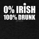 0% Irish 100% Drunk Saint St Patrick's T-Shirt