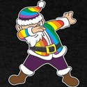 LGBT Rainbow Santa Gay LGBTQ Christmas Hol T-Shirt