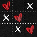 Tic-Tac-Toe Heart Sweet Gift For Valentine T-Shirt