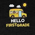 Hello First Grade School Bus Back To Schoo T-Shirt