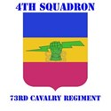 DUI - 4th Sqdrn - 73rd Cavalry Regt with Text Whit