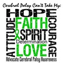 Cerebral Palsy Can'tTakeHope White T-Shirt