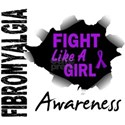 Fight Like A Girl 14.3 Fibromyalgia Shirts