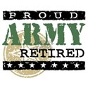 Proud Army Retired White T-Shirt
