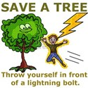 Funny Save a Tree White T-Shirt