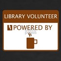Library Volunteer Powered by Coffee Women's V-Neck