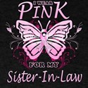 I Wear Pink For My Sister-In-Law Butterfly T-Shirt