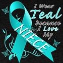 I Wear Teal Because I Love My Niece T-Shirt