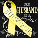 My Husband is a Survivor (yellow) T-Shirt