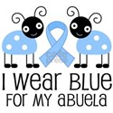 Abuela Light Blue Ribbon White T-Shirt