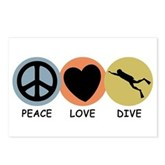 Peace Love Dive Postcards (Package of 8)