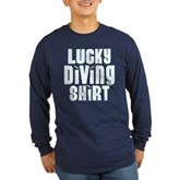 Lucky Diving Shirt Long Sleeve Dark T-Shirt