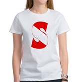 Scuba Flag Letter S Women's T-Shirt