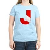 Scuba Flag Letter J Women's Light T-Shirt