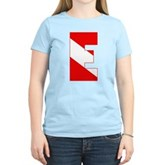 Scuba Flag Letter E Women's Light T-Shirt
