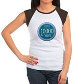 10000 Dives Milestone Women's Cap Sleeve T-Shirt