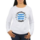 Open Water Diver 2008 Women's Long Sleeve T-Shirt