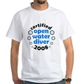 Open Water Diver 2008 White T-Shirt