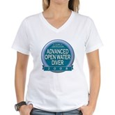 Certified AOWD 2008 Women's V-Neck T-Shirt
