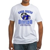 Coed Naked Diving Fitted T-Shirt