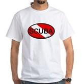 Scuba Oval Dive Flag White T-Shirt
