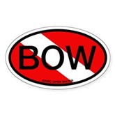BOW Oval Dive Flag Oval Sticker
