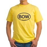BOW Oval Yellow T-Shirt