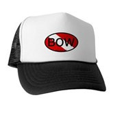 BOW Oval Dive Flag Trucker Hat