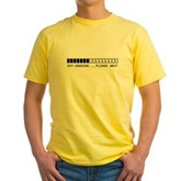 Off-Gassing ... Please Wait Yellow T-Shirt
