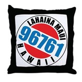Lahaina Maui 96761 Throw Pillow