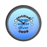 Open Water Diver 2009 Wall Clock