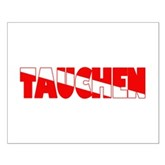 Tauchen German Scuba Flag Small Poster