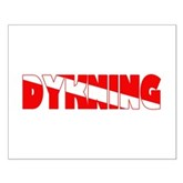 Dykning Danish Dive Flag Small Poster