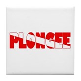 Plongee French Scuba Flag Tile Coaster