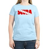 Scuba Text Flag Women's Light T-Shirt