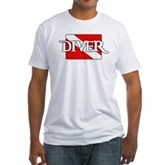Pirate-style Diver Flag Fitted T-Shirt