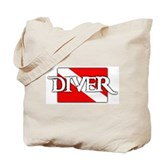 Pirate-style Diver Flag Tote Bag