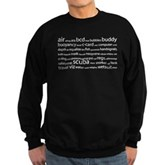 SCUBA Tag Cloud Sweatshirt (dark)
