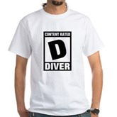 Rated D: Diver White T-Shirt