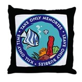 Take Only Memories (fish) Throw Pillow