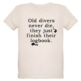 Old Divers Never Die... Organic Kids T-Shirt