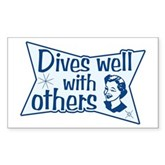 Dives Well With Others Rectangle Sticker