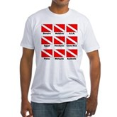 Dive Flags of the World Fitted T-Shirt