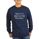 Diving with you Long Sleeve Dark T-Shirt